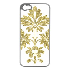 Gold Authentic Silvery Pattern Apple iPhone 5 Case (Silver)
