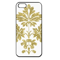 Gold Authentic Silvery Pattern Apple iPhone 5 Seamless Case (Black)