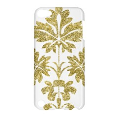 Gold Authentic Silvery Pattern Apple iPod Touch 5 Hardshell Case