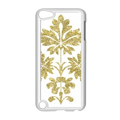 Gold Authentic Silvery Pattern Apple iPod Touch 5 Case (White)