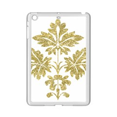 Gold Authentic Silvery Pattern iPad Mini 2 Enamel Coated Cases