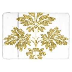 Gold Authentic Silvery Pattern Samsung Galaxy Tab 8.9  P7300 Flip Case