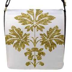 Gold Authentic Silvery Pattern Flap Messenger Bag (S)