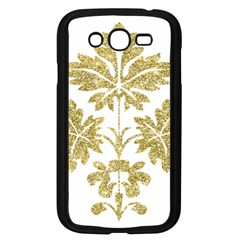Gold Authentic Silvery Pattern Samsung Galaxy Grand DUOS I9082 Case (Black)