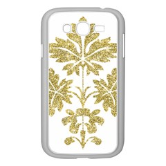 Gold Authentic Silvery Pattern Samsung Galaxy Grand DUOS I9082 Case (White)