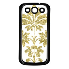 Gold Authentic Silvery Pattern Samsung Galaxy S3 Back Case (Black)