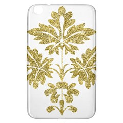 Gold Authentic Silvery Pattern Samsung Galaxy Tab 3 (8 ) T3100 Hardshell Case