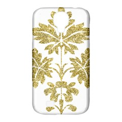 Gold Authentic Silvery Pattern Samsung Galaxy S4 Classic Hardshell Case (PC+Silicone)