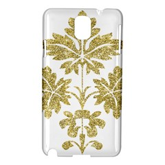 Gold Authentic Silvery Pattern Samsung Galaxy Note 3 N9005 Hardshell Case