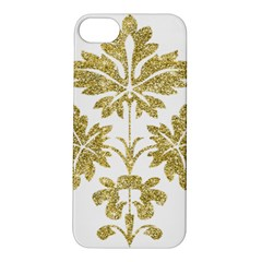 Gold Authentic Silvery Pattern Apple iPhone 5S/ SE Hardshell Case