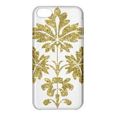 Gold Authentic Silvery Pattern Apple iPhone 5C Hardshell Case