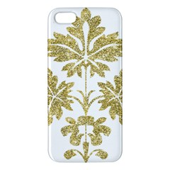 Gold Authentic Silvery Pattern iPhone 5S/ SE Premium Hardshell Case