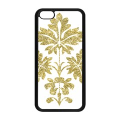 Gold Authentic Silvery Pattern Apple iPhone 5C Seamless Case (Black)