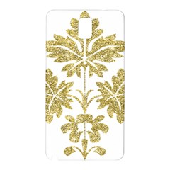 Gold Authentic Silvery Pattern Samsung Galaxy Note 3 N9005 Hardshell Back Case