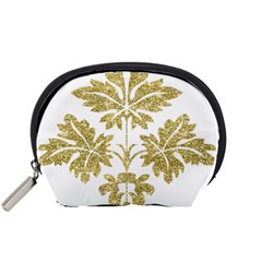 Gold Authentic Silvery Pattern Accessory Pouches (Small)