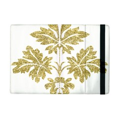 Gold Authentic Silvery Pattern iPad Mini 2 Flip Cases