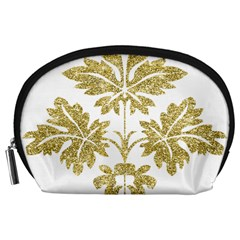 Gold Authentic Silvery Pattern Accessory Pouches (Large)