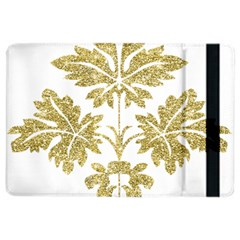 Gold Authentic Silvery Pattern iPad Air 2 Flip