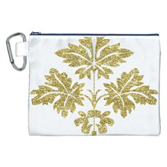 Gold Authentic Silvery Pattern Canvas Cosmetic Bag (XXL)