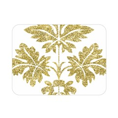 Gold Authentic Silvery Pattern Double Sided Flano Blanket (Mini)