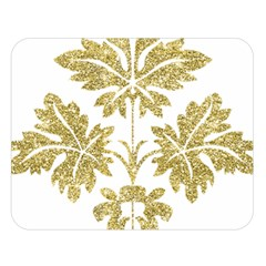 Gold Authentic Silvery Pattern Double Sided Flano Blanket (Large)