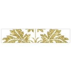 Gold Authentic Silvery Pattern Flano Scarf (Small)