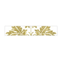Gold Authentic Silvery Pattern Flano Scarf (Mini)