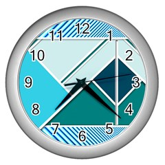 Logo Concept Banner Header Idea Wall Clocks (silver)