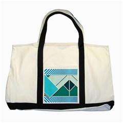 Logo Concept Banner Header Idea Two Tone Tote Bag