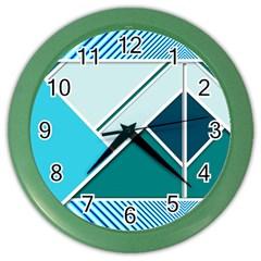 Logo Concept Banner Header Idea Color Wall Clocks