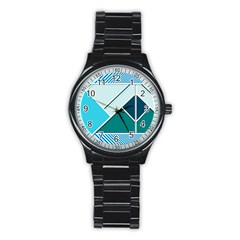 Logo Concept Banner Header Idea Stainless Steel Round Watch