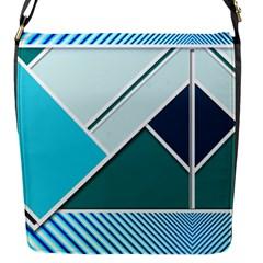 Logo Concept Banner Header Idea Flap Messenger Bag (s)