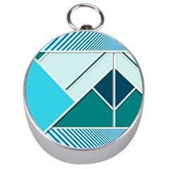 Logo Concept Banner Header Idea Silver Compasses