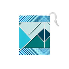Logo Concept Banner Header Idea Drawstring Pouches (small)
