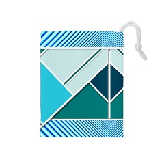 Logo Concept Banner Header Idea Drawstring Pouches (medium)