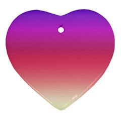 Blue Pink Purple Red Heart Ornament (2 Sides)