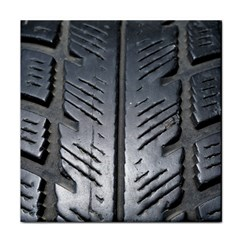Mature Black Auto Altreifen Rubber Pattern Texture Car Tile Coasters