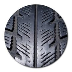 Mature Black Auto Altreifen Rubber Pattern Texture Car Round Mousepads