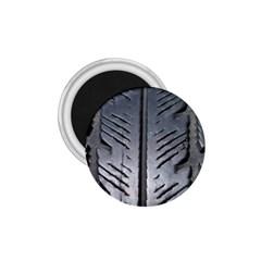 Mature Black Auto Altreifen Rubber Pattern Texture Car 1 75  Magnets