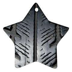 Mature Black Auto Altreifen Rubber Pattern Texture Car Ornament (star)