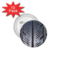 Mature Black Auto Altreifen Rubber Pattern Texture Car 1 75  Buttons (10 Pack)