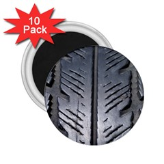 Mature Black Auto Altreifen Rubber Pattern Texture Car 2 25  Magnets (10 Pack)