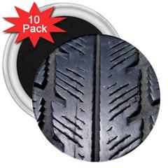 Mature Black Auto Altreifen Rubber Pattern Texture Car 3  Magnets (10 pack)