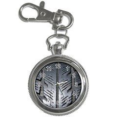 Mature Black Auto Altreifen Rubber Pattern Texture Car Key Chain Watches