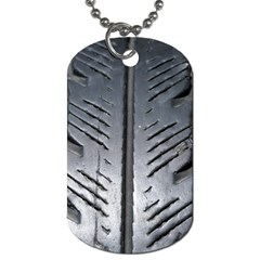 Mature Black Auto Altreifen Rubber Pattern Texture Car Dog Tag (one Side)
