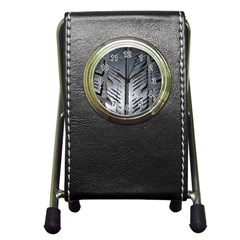 Mature Black Auto Altreifen Rubber Pattern Texture Car Pen Holder Desk Clocks