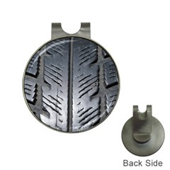 Mature Black Auto Altreifen Rubber Pattern Texture Car Hat Clips with Golf Markers