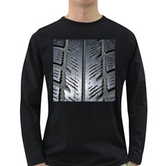 Mature Black Auto Altreifen Rubber Pattern Texture Car Long Sleeve Dark T Shirts