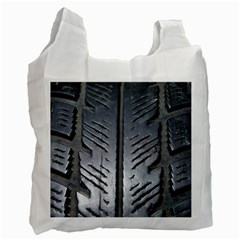 Mature Black Auto Altreifen Rubber Pattern Texture Car Recycle Bag (one Side)