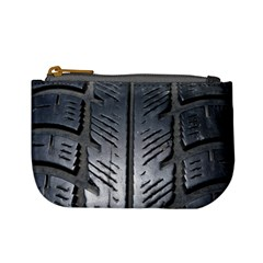Mature Black Auto Altreifen Rubber Pattern Texture Car Mini Coin Purses